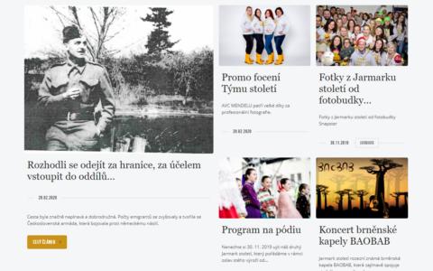 Století Agronomické fakulty - Web při příležitosti oslav stolení AF MENDELU